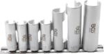 Spezial-Steckschlüssel-Einsatz-Satz, geschlitzt | Antrieb Innenvierkant 10 mm (3/8) | SW 10 - 19 mm | 6-tlg.