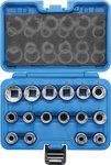 Steckschlüssel-Einsatz-Satz Zwölfkant Antrieb Innenvierkant 12,5 mm (1/2) SW 8 - 24 mm 16-tlg.