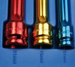 Kraft-Schoneinsätze, 12,5 (1/2), 150 mm tief, 17-19-21 mm, 3-tlg.