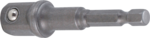 Bgs Technic Adapter voor boormachines aandrijving buitenzeskant 6,3 mm (1/4) / uitgaande buitenvierkant 12,5 mm (1/2)