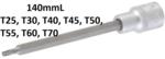 Bit-Einsatz Lange 140 mm Antrieb Innenvierkant 12,5 mm (1/2) T-Profil (fur Torx) T25