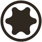 Kraft-Bit-Einsatz Antrieb Innenvierkant (1/2) T-Profil (fur Torx)