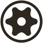 Bit Antrieb Außensechskant (1/4) T-Profil (fur Torx) mit Bohrung