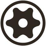 Bit Antrieb Außensechskant (3/8) T-Profil (fur Torx) mit Bohrung