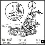 Mini-Raupen-Plattformwagen
