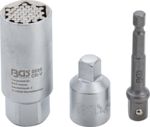 Multi-Einsatz mit mit Adapter-Satz (3/8) SW 9 - 21mm 3-tlg
