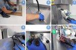 Teilereiniger mit elektrischer Pumpe