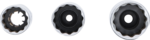 Zundkerzen-Einsatz-Satz Zwolfkant Antrieb Innenvierkant 3/8, SW 14 - 16 - 18 mm 3-tlg