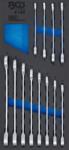 Werkstattwageneinlage 1/3: Ratschenring-Maulschlussel-Satz SW 8 - 19mm 12-tlg