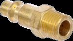 Druckluft-Stecknippel (1/4) Außengewinde USA / Frankreich
