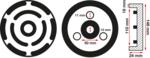 Gummiteller | für Hebebühnen | Ø 145 mm