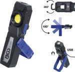 COB-LED-Werkstattleuchte mit Magnet und Haken klappbar