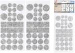Filzgleiter-Satz grau-meliert 64-tlg