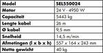 Winde 24V, 5443kg 4.95kw 26m IP68