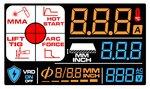 Elektroden-Wechselrichter lcd 220a 230v + Zubehor