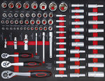 Werkstattwagen 7 Schubladen 1 Seitentur mit 250 Werkzeugen