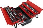 Metall-Werkzeugkoffer inkl. Werkzeug-Sortiment 86-tlg