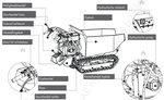 Mini-Kettendumper 500kg rechteckig 6F+2R