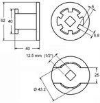 Olfilterschlussel 6-Zahne fur Hyundai & Kia 2.0L / 2.2L Diesel