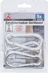 Karabinerhaken-Sortiment 80 x 8 mm 5-tlg