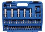 Steckschlüssel-Satz Wellenprofil Antrieb 6,3 mm (1/4) / 12,5 mm (1/2) 95-tlg