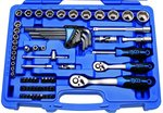 Steckschlüssel-Satz Sechskant Antrieb 6,3 mm (1/4) / 10 mm (3/8) Zollgrößen 92-tlg.