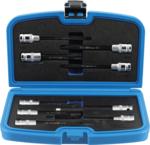Bit-Einsatz-/Steckschlüssel-Einsatz-Satz | für Zylinderkopfschrauben | Antrieb Innenvierkant 12,5 mm (1/2) | 9-tlg.