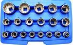 Steckschlüssel-Einsatz-Satz Gear Lock Antrieb Innenvierkant 12,5 mm (1/2) 19-tlg
