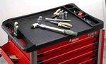 Schwarz 8-Schublade Wagen mit 286pc Tools