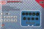 Spezial-Steckschlüssel-Einsätze, 10 (3/8), 10-19 mm, 10-tlg.