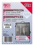 Diamantfeilen-Satz gerade 140 x 3 mm 10-tlg.