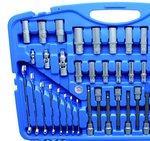 Steckschlüssel-Satz Sechskant Antrieb 6,3 mm (1/4) / 10 mm (3/8) / 12,5 mm (1/2) 213-tlg