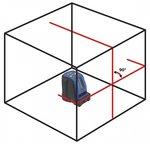 Kreuzlinienlaser 2 Linien mit rotem Laserlicht