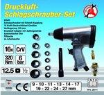 Druckluft-Schlagschrauber-Satz, 12,5 (1/2), 320 Nm, 16-tlg