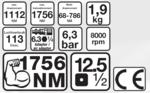 Druckluft-Schlagschrauber, 12,5 (1/2), 1756 NM