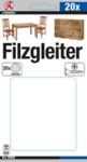 Filzgleiter-Satz | mit Schrauben | Ø 24 mm | 20-tlg
