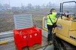 Tank Diesel rot PE 440 Liter, Pumpe 12V