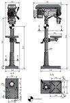 Säulenbohrmaschine Durchmesser 25mm