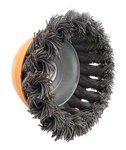 Stahlbürstenkopf Form gedrehter Durchmesser 100mm