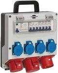 Wandverteiler 4/32 IP44 4x LS 230V/16 A, 1xLS 400V/16 A, 1xFI 40 A 4-polig 30mA
