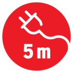 Sicherheitshandleuchte 5m H05RN-F 2x0,75 60W E27