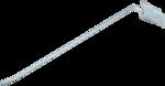 Wandhaken einzeln 300 x 4,8 mm mit Klappverschluss (ohne Galgen)
