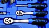 Steckschlüssel-Satz Sechskant Antrieb 6,3 mm (1/4) / 10 mm (3/8) Zollgrößen 92-tlg._