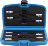 Bit-Einsatz-/Steckschlüssel-Einsatz-Satz | für Zylinderkopfschrauben | Antrieb Innenvierkant 12,5 mm (1/2) | 9-tlg._