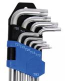 Winkelschlüssel-Satz extra lang T-Profil (für Torx) T10 - T50 9-tlg_