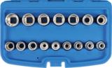 Steckschlüssel-Einsatz-Satz Zwölfkant Antrieb Innenvierkant 12,5 mm (1/2) SW 8 - 24 mm 16-tlg._