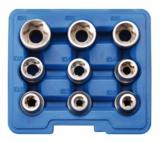 Steckschlüssel-Einsatz-Satz E-Profil Antrieb Innenvierkant (1/2) 9-tlg._