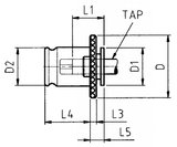 Zapfkopf mit Rutschkupplung DIN376 M20_