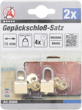 Gepäckschloß-Satz, 15 mm, 2-tlg.