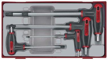 Inbusset mit t-Griff tc-tray 2.5/8mm 7dlg